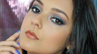 Maquiagem Azul para Morenas - Por Jéssica Freitas