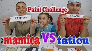 Desenam Cu Ochii Inchisi 2 Mamica VS  Taticu/Paint Challenge 2