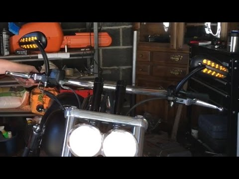 Harley LED Turn Signal Mirrors - YouTube