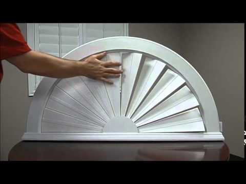 The Sunburst Shutters Polywood Sunburst Youtube