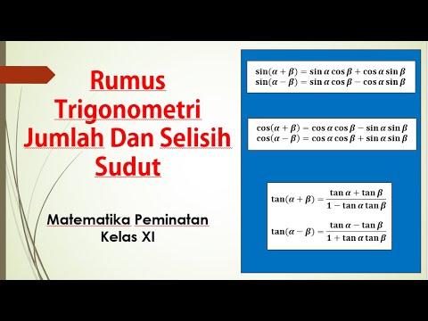 Rumus Trigonometri Jumlah Dan Selisih Dua Sudut Youtube