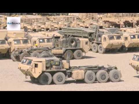 Bagram Airfield Out-Bound Joint Inspections For Retrograde. HEMTT And LMTV Vehicles.