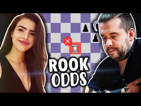Alexandra Tries to Beat World #4 Ian Nepomniachtchi With Rook Odds