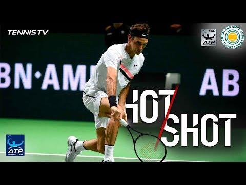 Watch: Federer Flicks Fantastic Hot Shot At Rotterdam 2018