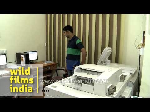 Braille printing unit for large print orders, in India
