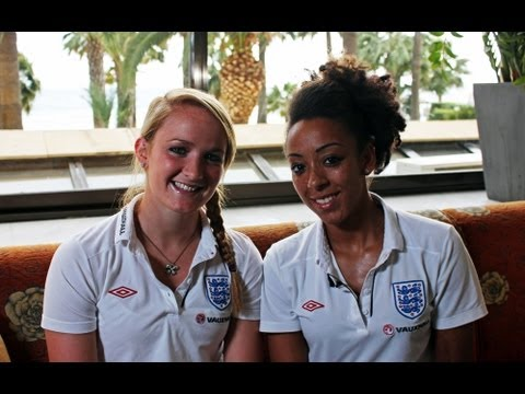 INTERVIEW: England and Lincoln's Sophie Bradley and Jess Clarke (Cyprus Cup 2013)