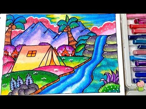 6200 Koleksi Lukisan Pemandangan Air Terjun Yang Mudah Terbaik