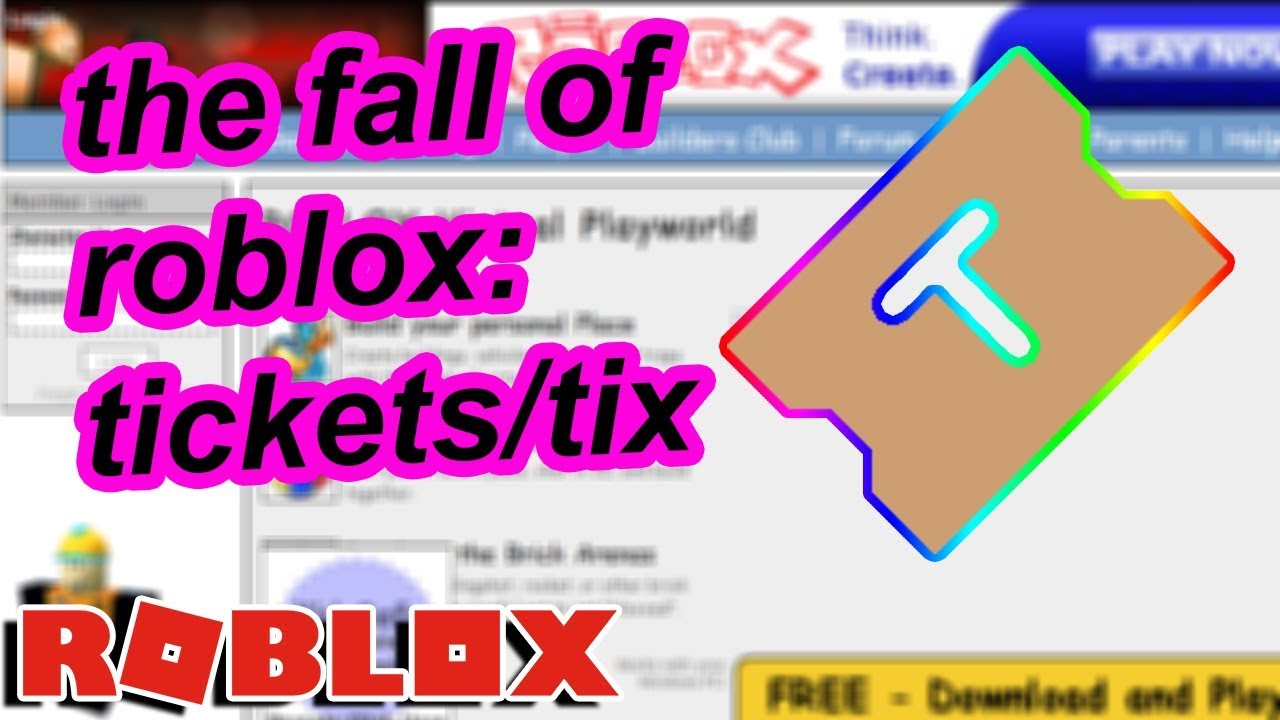The Fall Of Roblox Tickets Youtube