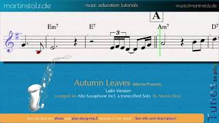 """Play """"Autumn Leaves"""" in a Latin version with your alto saxophone!"""