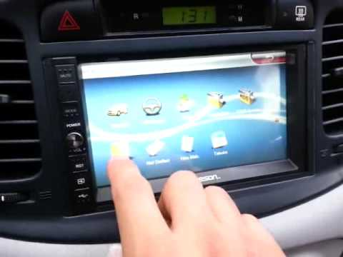 Hyundai Accent Era Jameson Js 955 Double Din Youtube