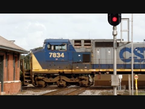 Amtrak Train Near Misses CSX Train At Interlocking