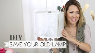 DIY: Recycle that Old Lamp ∞ Trash to Fab w/ AnneorShine