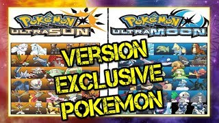 Pokémon Ultra Sun and Ultra Moon DISCUSSION - Version Exclusive Pokemon