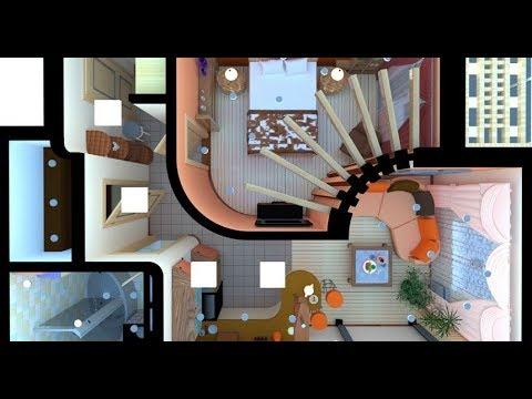 Дизайн и планировка квартиры свободной планировки. 47m2. Владивосток. 2019г.