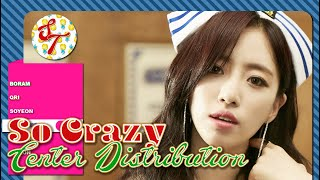 T-ARA - So Crazy: Center Distribution (Color Coded)