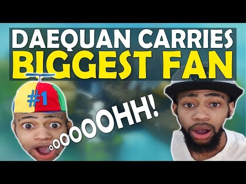 DAEQUAN'S HUGE SURPRISE CARRY | HIGH KILL SQUADS GAME | FT. ChicaLive - (Fortnite Battle Royale)
