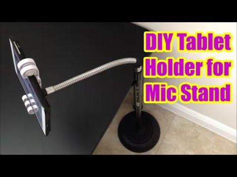 DIY Tablet Holder for Mic Stand