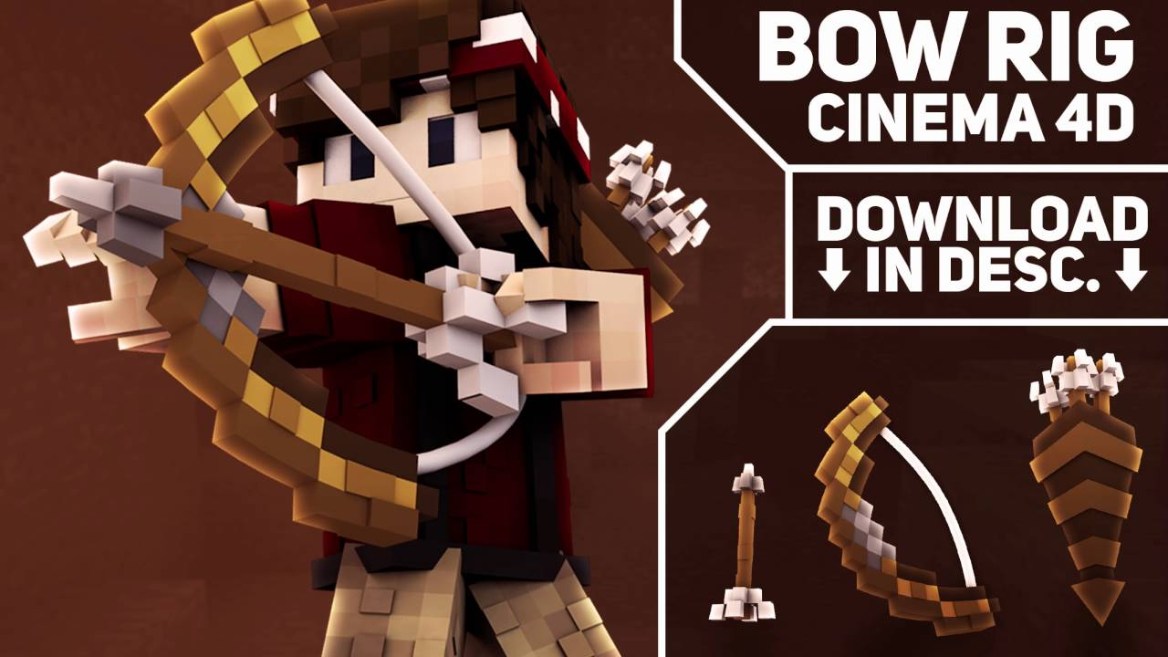 Fwmcr v. 1. 0! Free (advanced? ) minecraft steve rig for cinema 4d.