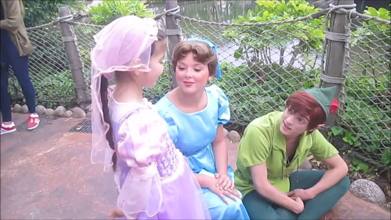 Peter pan and wendy at disneyland paris youtube kristyandbryce Image collections