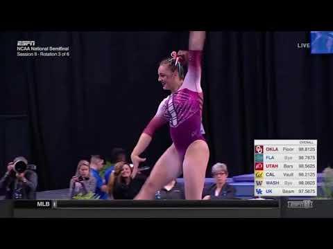 Maggie Nichols (Oklahoma) 2018 Nationals Semifinals Floor 9.9625