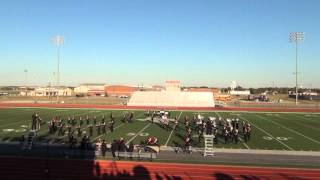 10 10 2015 mighty marching maroon performing in finals at ponder tx