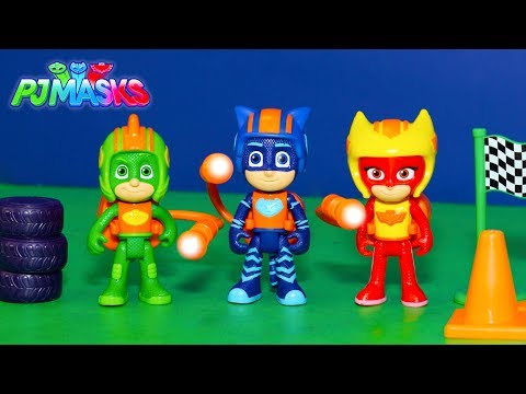 PJ Mask Race into the Night New Toy Unboxing and Race