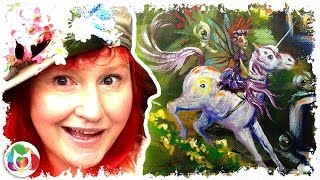 How to paint | Fairy landscape with Unicorn and waterfall | The Art Sherpa