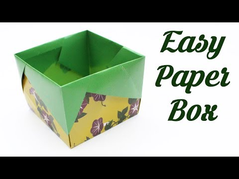 How to make Origami Box, Easy Basic Simple Origami for Beginners Kids, Paper Crafts DIY Ideas Work
