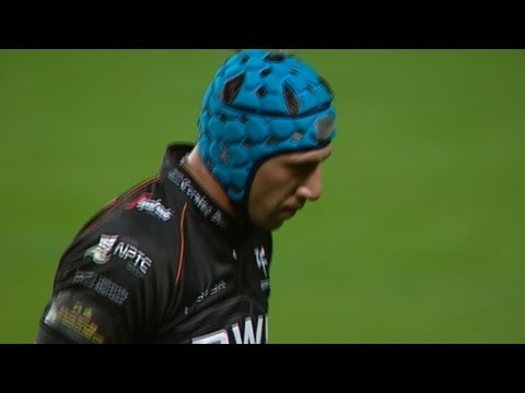 Tempers Flare as Tipuric gets yellow for tip tackle Ospreys v Edinburgh 21st Sept 2013