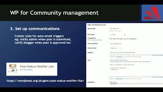Creating and managing a community using WordPress - WordPress Singapore