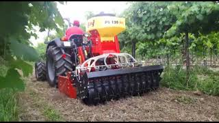 Power Harrow Fox with Seeder