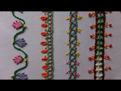 Hand Embroidery Stitches Tutorial For Beginners. Part-3