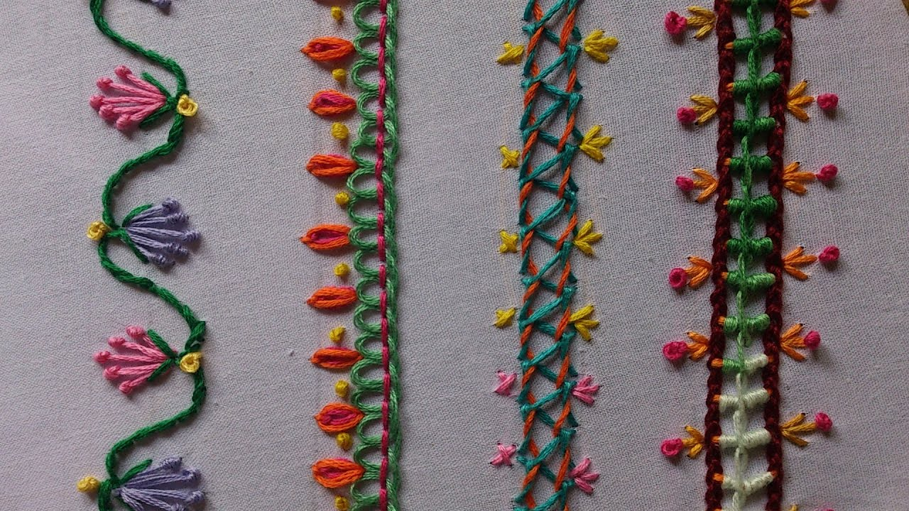 Hand embroidery stitches for beginners imgkid
