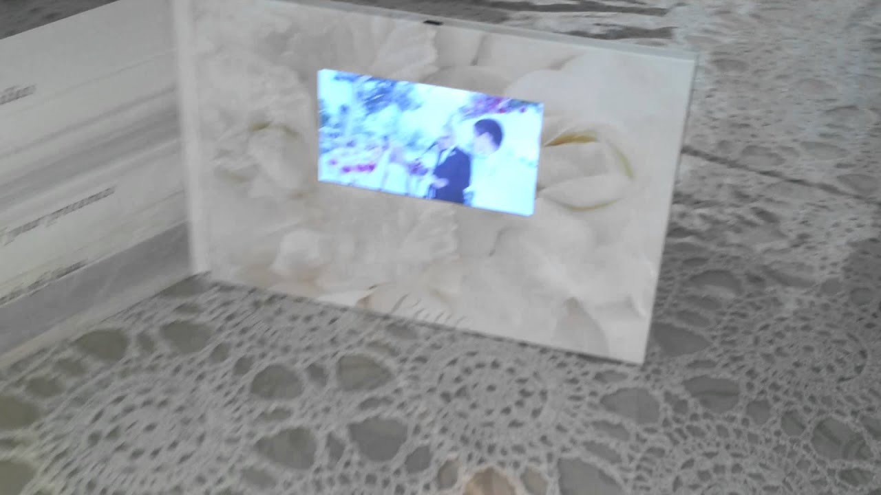 Wedding invitation video card youtube wedding invitation video card stopboris Image collections
