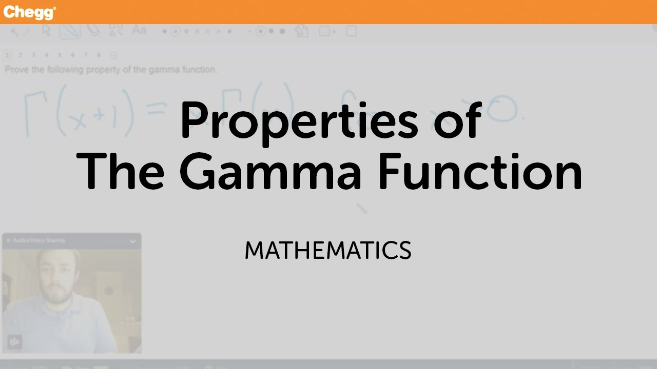 Properties of the Gamma Function | Math | Chegg Tutors