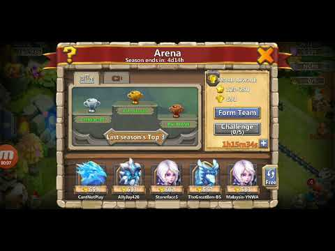 New Arena Rewards Castle Clash April 20 2019
