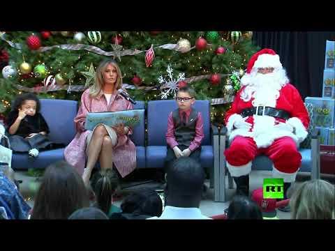 شاهد واستمع كيف تقرأ ميلانيا ترامب قصص أساطير عيد رأس السنة للأطفال  - نشر قبل 3 ساعة
