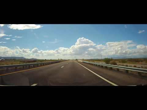 Driving on Interstate 10 across entire state of New Mexico (timelapse)