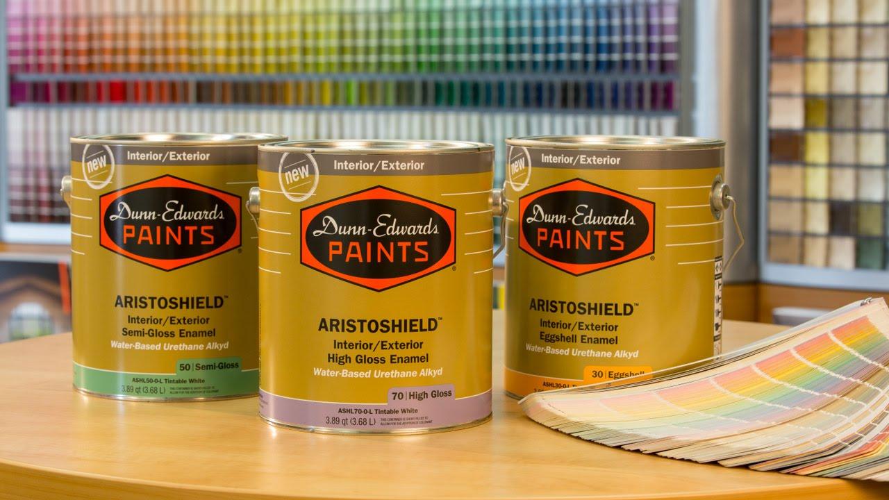 New ARISTOSHIELD Ultra-Premium Interior/Exterior Paints. Dunn-Edwards Paints & New ARISTOSHIELD Ultra-Premium Interior/Exterior Paints - YouTube