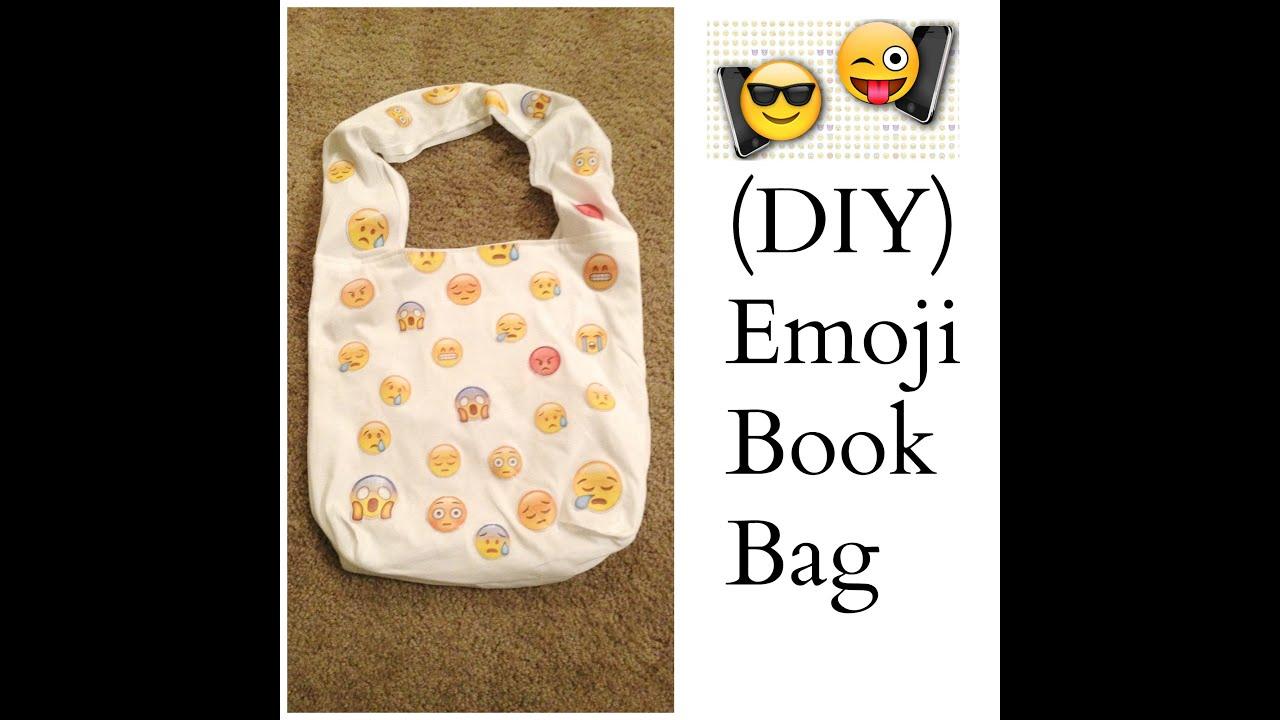 DIY) Emoji Book Bag! :) - YouTube