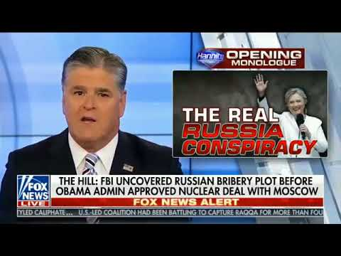 Sean Hannity~ Uranium One, Hillary Clinton ( Malheur Refuge, Bundy Ranch) 10/17/17  Short Version
