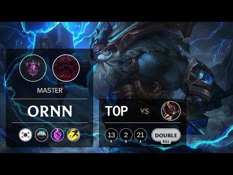 Ornn Top Vs Darius - KR Master Patch 9.18