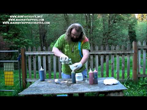 How To Tie Dye A Rastaman Spiral Tie Dye T Shirt by Made By Hippies 2015