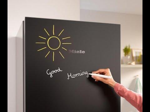 comment peindre un frigo avec la peinture tableau noir en. Black Bedroom Furniture Sets. Home Design Ideas