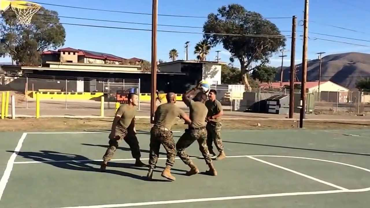 Marines playing
