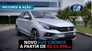 Novo Fiat Cronos a partir de R$53.990,00