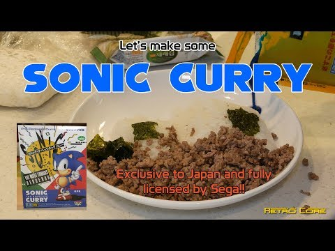 Want Blue Poop?  Eat Sonic The Hedgehog Curry!! - 4K