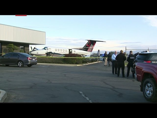 Police: teen steals plane, hits airport fence
