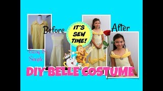 EASY AND SIMPLE DIY BELLE COSTUME | SEWING FOR BEGINNERS