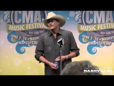 Alan Jackson's Interview Backstage at CMA Fest 2012